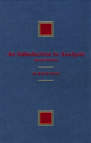 9780534944223: An Introduction to Analysis