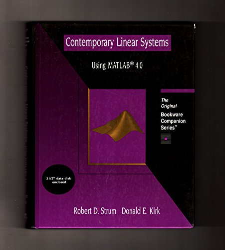 Contemporary Linear Systems Using MATLAB 4.0 (A: Robert S. Strum;