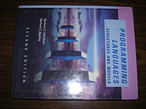 9780534947408: Programming Languages: Structures and Models (The Pws Series in Computer Science)