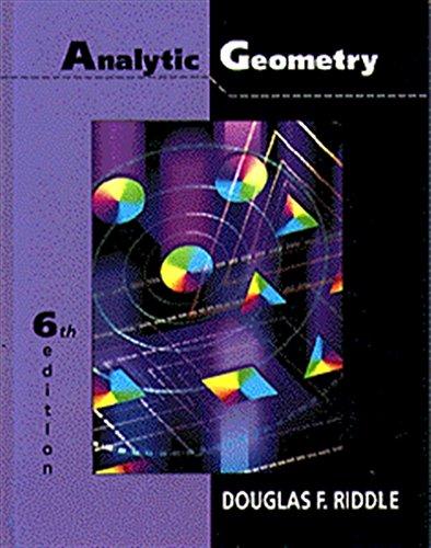 9780534948542: Analytic Geometry