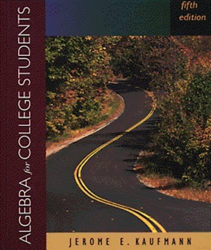 9780534948962: Algebra for College Students