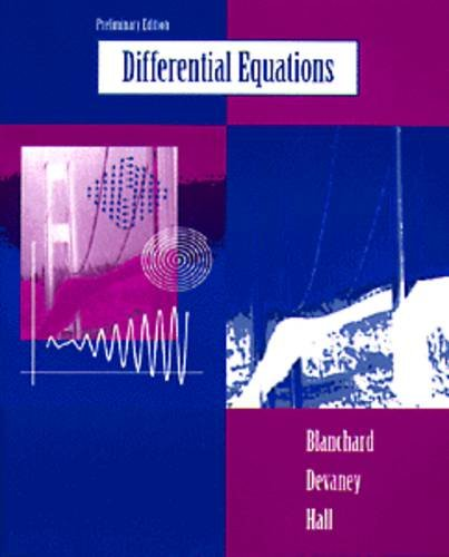 9780534950040: Differential Equations, Preliminary Edition