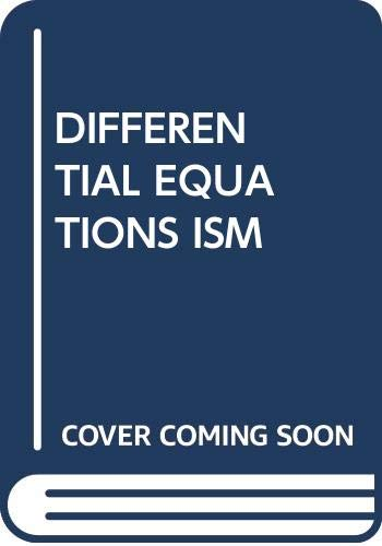 9780534950071: DIFFERENTIAL EQUATIONS ISM
