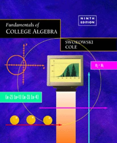 9780534950477: Fundamentals of College Algebra