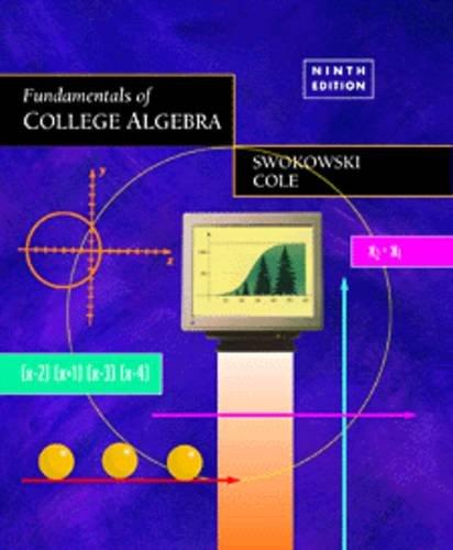 9780534950477: Fundamentals of College Algebra
