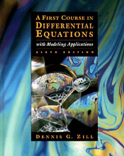 9780534955748: First Course in Differential Equations with Modeling Applications