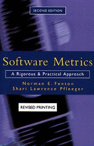 Software Metrics: Norman E. Fenton,