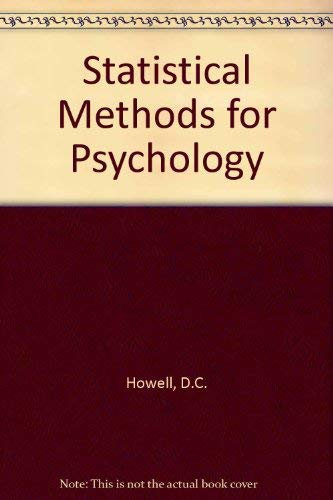 9780534972172: Statistical Methods for Psychology