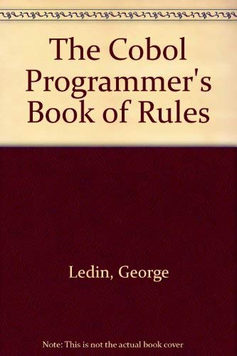 9780534979232: The Cobol Programmer's Book of Rules