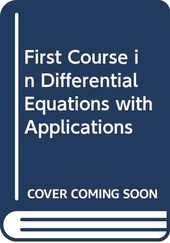9780534980115: First Course in Differential Equations with Applications