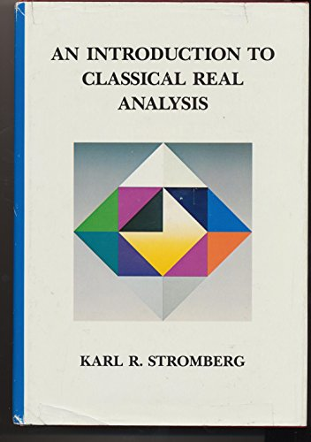 9780534980122: Introduction to Classical Real Analysis (Wadsworth & Brooks/Cole Mathematics Series)