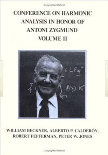 9780534980412: Conference Harmonic Analysis, Volume II (The Wadsworth Mathematics Series)