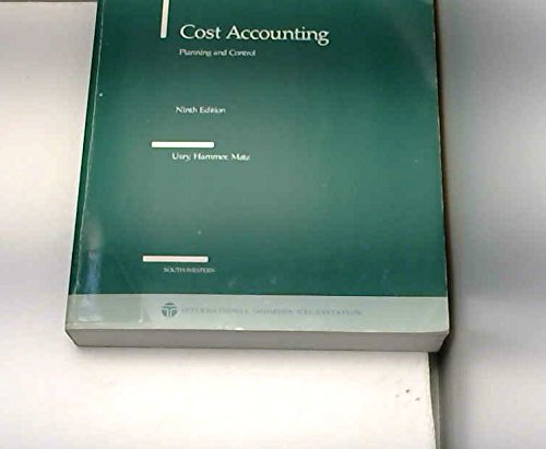 9780534980566: Cost Accounting: Planning and Control