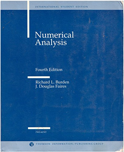 9780534980597: Numerical Analysis by Burden, R.L.; Faires, J.D.