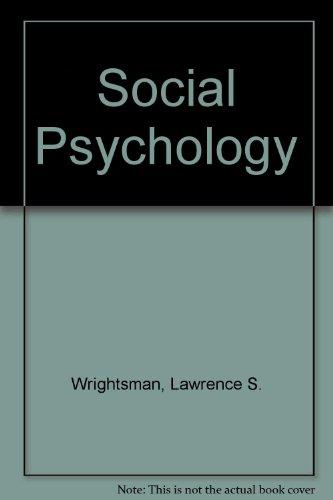 9780534981082: Social Psychology