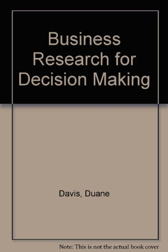 9780534981204: Business Research for Decision Making