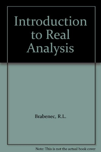 9780534981532: Introduction to Real Analysis
