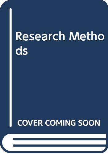 9780534981723: Research methods (International student edition)
