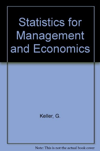 9780534982089: Statistics for Management and Economics