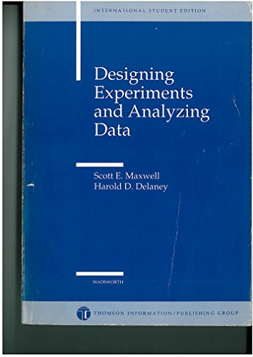 9780534982331: Designing Experiments and Analysing Data: A Model Comparison Perspective