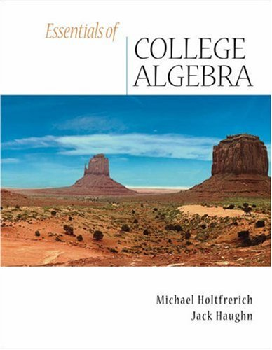 9780534998011: Essentials of College Algebra (with CD-ROM)