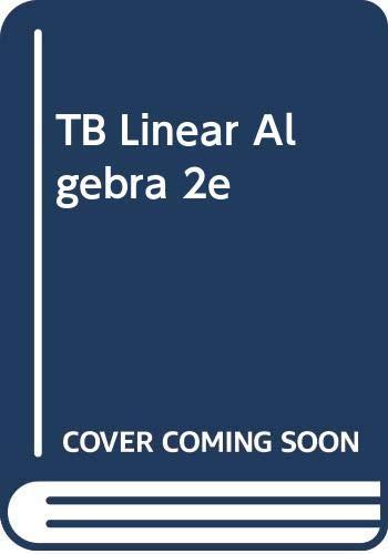 Tb Linear Algebra 2e: Poole
