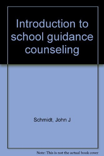 Introduction to school guidance counseling: John J Schmidt