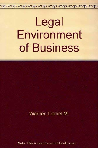 9780536002617: Legal Environment of Business