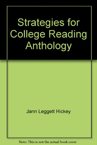 9780536003485: Strategies for College Reading Anthology