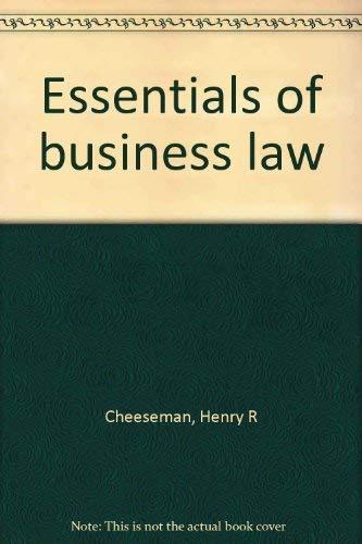9780536004703: Essentials of business law [Taschenbuch] by Cheeseman, Henry R