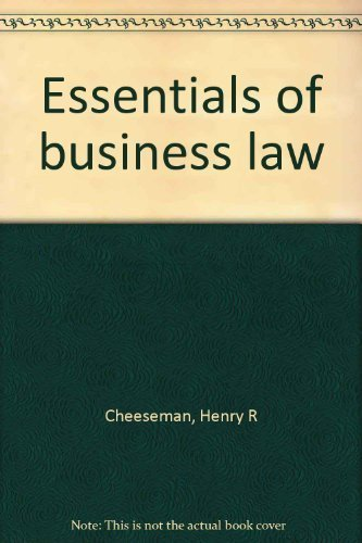 9780536004703: Essentials of business law