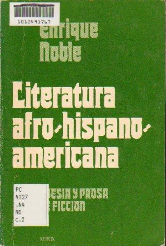 9780536007575: Literatura Afro-Hispano-Americana: Poesia y Prosa De Ficcion