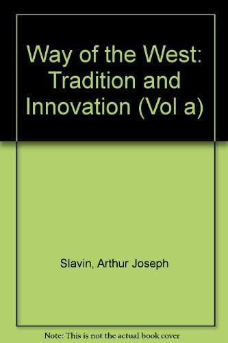 9780536009074: Way of the West: Tradition and Innovation (Vol a)