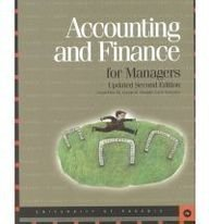 9780536021175: Accounting & Finance for Managers