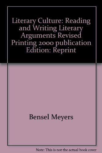 9780536028242: Literary Culture: Reading and Writing Literary Arguments