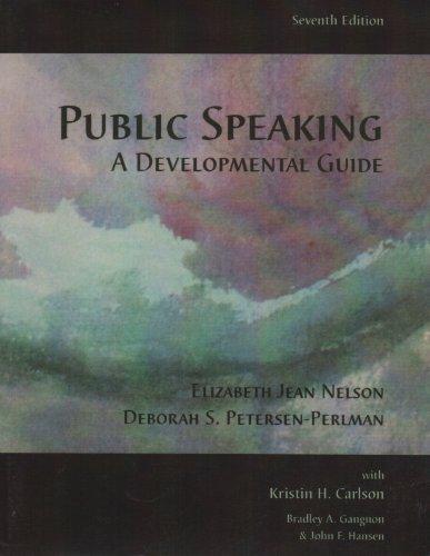 9780536063274: Public Speaking A Developmental Guide
