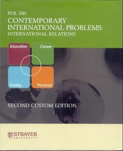 9780536081889: Contemporary International Problems (International Relations, Pol 300)