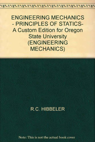 9780536083968: ENGINEERING MECHANICS - PRINCIPLES OF STATICS-