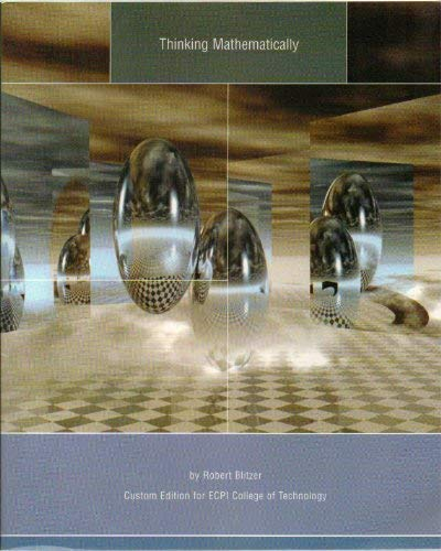 9780536125217: Thinking Mathematically (Custom Edition for Ecpi College of Technology)