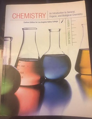 9780536125798: Chemistry An Introduction to General, Organic, and Biological Chemistry (Custom edition for Los Angeles Valley College)