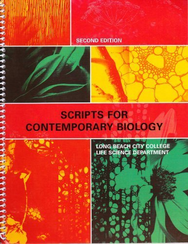 9780536125903: Scripts for Contemorary Biology - Long Beach City College Life Science Department Custom Edition (2nd Edition)