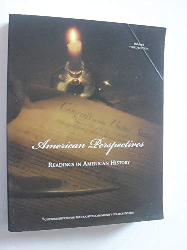 9780536128256: American Perspectives: Readings in American History (Volume I)