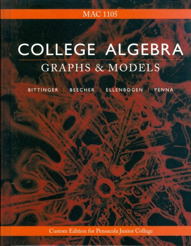 9780536134882: College Algebra: Graphs and Models (Fourth Edition)