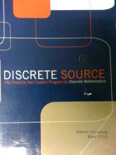 9780536135216: Discrete Source -Custom Discrete Mathematics Text for Auburn University MATH 3710