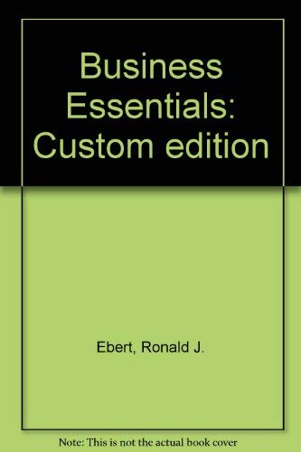 9780536153746: Business Essentials: Custom edition