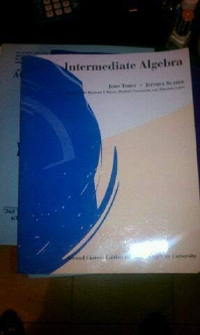 9780536164391: Intermediate Algebra (Custom Edition for New Jersey City University)