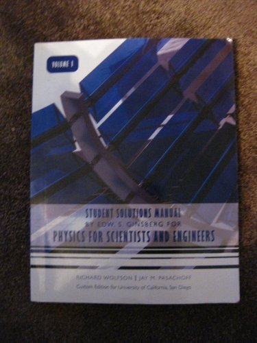 9780536170064: Physics for Scientist and Engineers: Student Solutions Manual