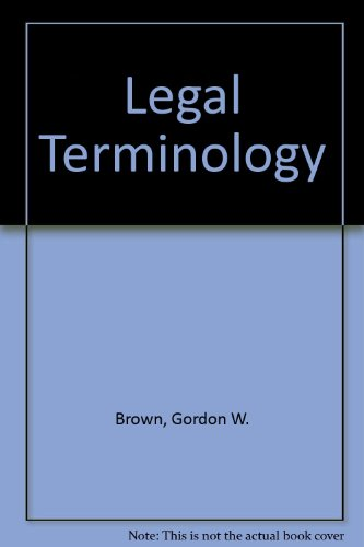9780536171689: Legal Terminology