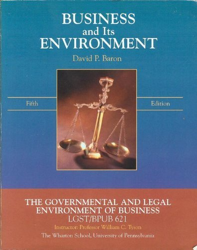 9780536175632: Business and Its Environment