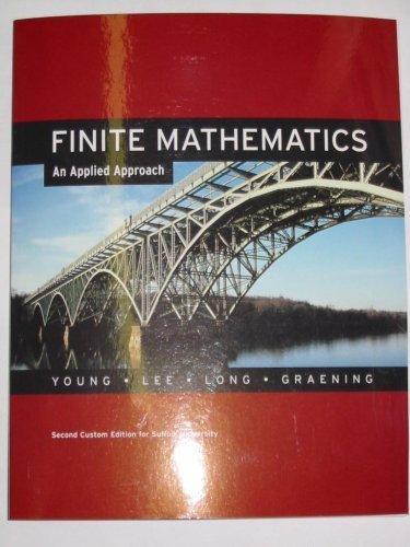 9780536200808: Finite Mathematics: An Applied Approach (Second Custom Edition for Suffolk University)